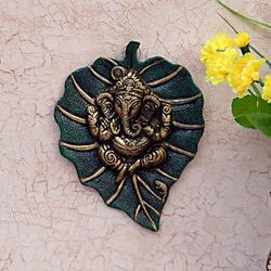 Ganesha Green Color Wall Hanging