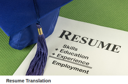 Resume Translation Services in East Patel Nagar New Delhi ID