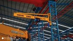 Single Girder Yellow Jib Crane