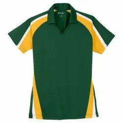 Half Sleeves Dri Fit Collar Sports T-Shirt