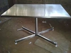 Kohinoor Furniture Stainless Steel KF-CANT-2 Canteen Table, For Hotel