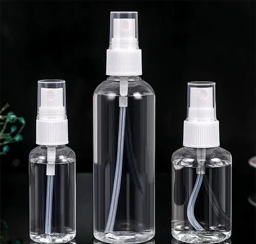 Empty Spray type sanitiser bottles