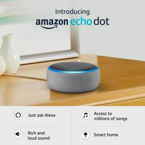 Amazon Echo Dot (3rd Gen) -New And Improved Smart Speaker With ...