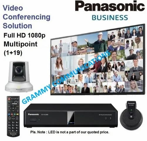 Panasonic Video Conferencing System: Multipoint 20-Sites Connection with 3x Optical Zoom
