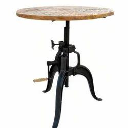 Black & Brown Kernig Krafts Crank Table Height Adjustable, Size: 60x60x70 Cm (lxbxh)