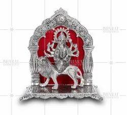 Silver Plated Maa Durga Idol