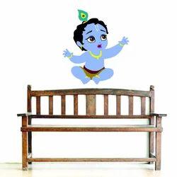 Amazon Brand -Decor Kafe Baby Krishna Wall Stickers PVC Vinyl, (69Cm X 60Cm)
