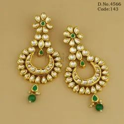 Traditional Kundan Hanging Earrings
