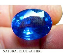 Natural Stone Blue Saphire, Carat: +0.5 Ct