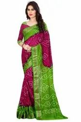 Women's Printed Cotton  Silk Saree