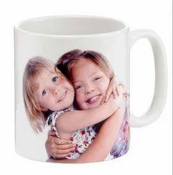 White Customize Sublimation Mug Printing Service