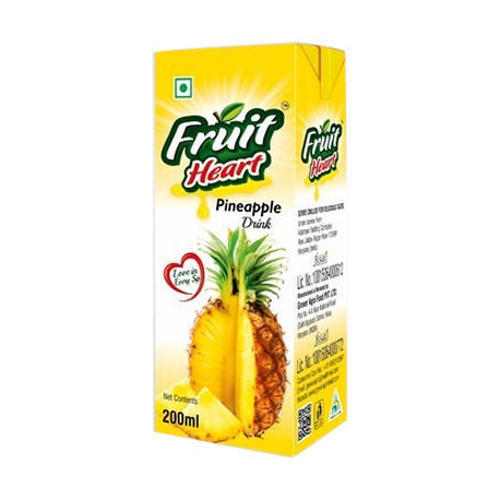 Fruit Heart Organic Pineapple Juice, 200 Ml