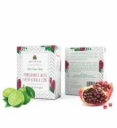 Aro Vatika Best Quality Pomegranate with Fresh Kerala Lime Clear Sugar Soap, 100g