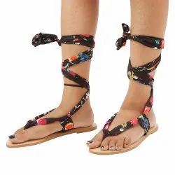 Womens Multi Tie Up Flat Sandals, Size: 35-41