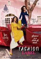 Kajal Style Fashion Label Vol-5 Kurti With Bottom Catalog