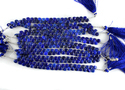 Lapis Lazuli Heart Shape Faceted Briolette Beads