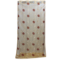 Golden Tissue Flower Embroidered Curtain, Size: 4 X 9 Feet