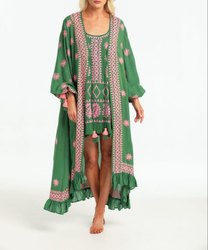 Embroidery Jacket With Short Tunic