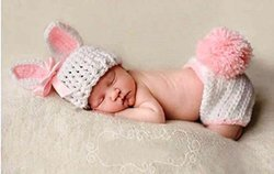 Babymoon ( SET OF 2 ) Baby Rabbit Designer Crochet Clothing / Best Costume / Best Baby Shower Gift