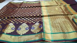 Party Wear Cotton Silk Saree, With Blouse, 6.3 m