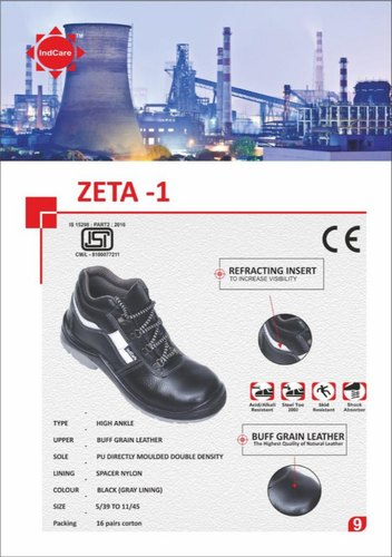 IndCare ZETA High Ankle Grain Leather Safety Shoes