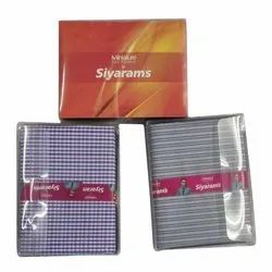 Casual Check And Striped Siyarams Shirting And Suiting gift Fabric, 180 To 400 Gsm, For Shirting And Suiting