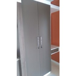 Gray Hinged Mica Finish Wooden Almirah, For Home, Hotel, Number Of Doors: 2