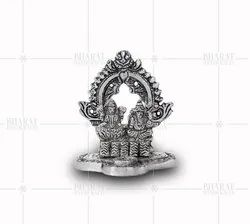 White metal small laxmi Ganesh Statue