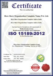ISO 15189:2012 Certification & Consultancy Service