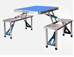 Elecktra Blue Aluminium Foldable Picnic Table