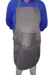 Cotton Grey Striped Cooking Apron, Packaging Type: Poly Pack