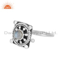 Supplier Rainbow Moonstone Designer Oxidized Silver Vintage Ring Jewelry