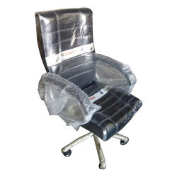 Silver & Black Movable Office Chair