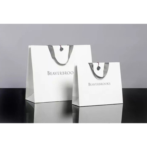 white sbs paper bag rs 10 piece greeko paper products id
