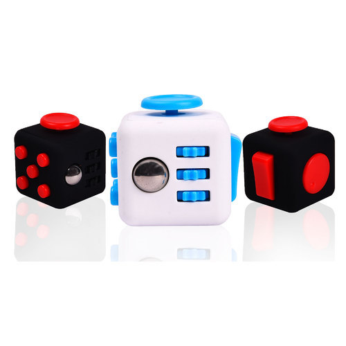 White And Blue Red Black Fidget Cube Size Dimension 38 X