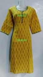 Ikkath Pochampally Straight Cut Kurtis