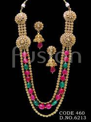 Traditional Polki Long Necklace Set