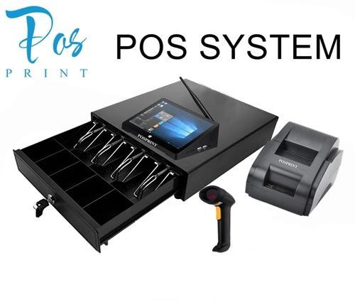 Posprint All In One Pos System Touch Screen 7 Mini Window Pc Cash Drawer Printer Scanner