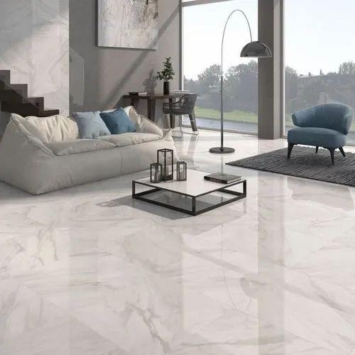White Living Room Designer Floor Tiles