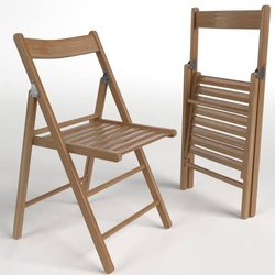Solid Wood Brown Wooden Folding Chair, No Of Legs: 4, for Home