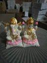 "Shashiarts Polyresine Polyresin Laxmi Ganesh Statue, For Worship, Size: 5"""