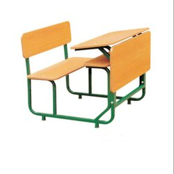 Two Seater Wooden School Benches