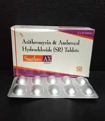 Azithromycin (Anhydrous) IP 500mg Ambroxol IP 75 mg Tablets