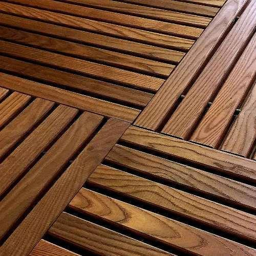 Brown Outdoor Wooden Flooring Rs 320 Square Feet Sn