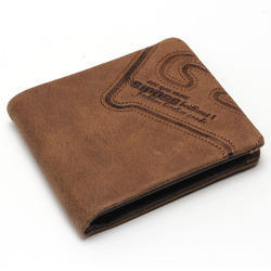 Adel International PU Leather American Style Brown Mens Wallet