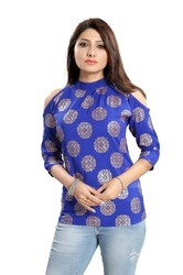 Printed Women's Crepe Top