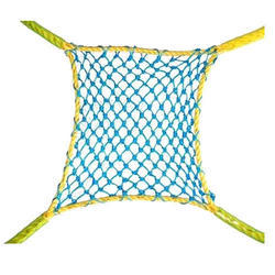 Yellow and Blue Plastic Double Cord Safety Net