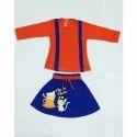 Cartoon Printed Skirt Top