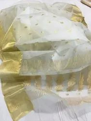 Milky Shed Colour Real Zari Gold Rich Pallu Silk Saree, 6.3 m (with blouse piece)