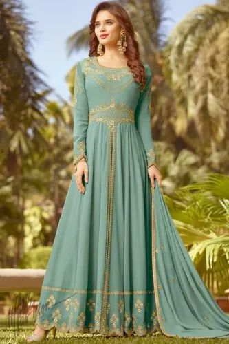 39b89cda92 Indian Wedding Wear And Party Wear Designer Anarkali Dress at Rs ...